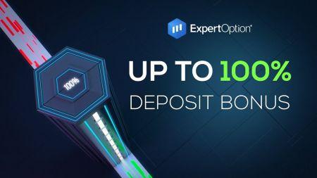 Promoción de bienvenida de ExpertOption - Bono de depósito del 100% hasta $ 500